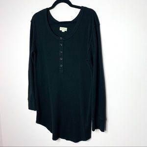ARITZIA Golden By TNA Waffle Knit Shirt Dress
